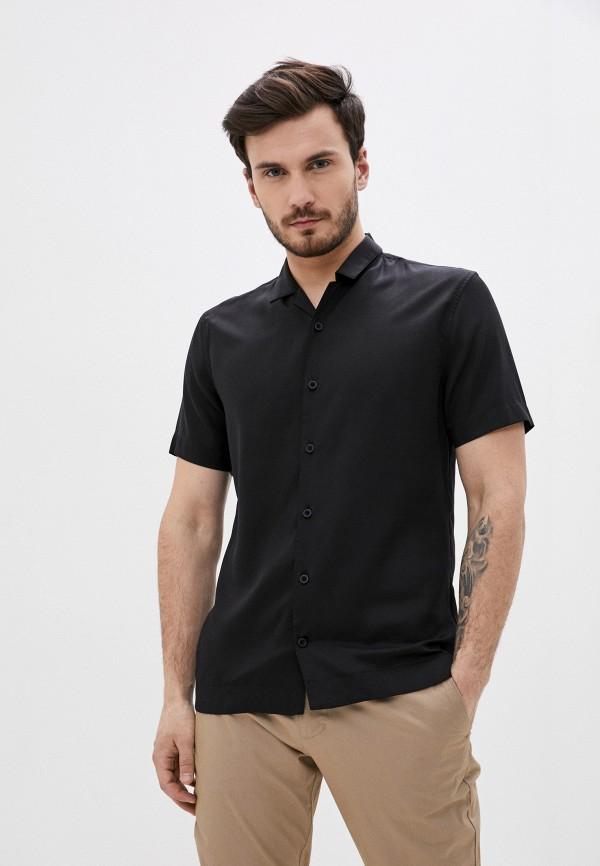 мужская рубашка с коротким рукавом matinique, черная