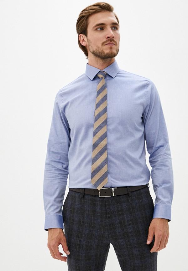 мужская рубашка с длинным рукавом matinique, голубая