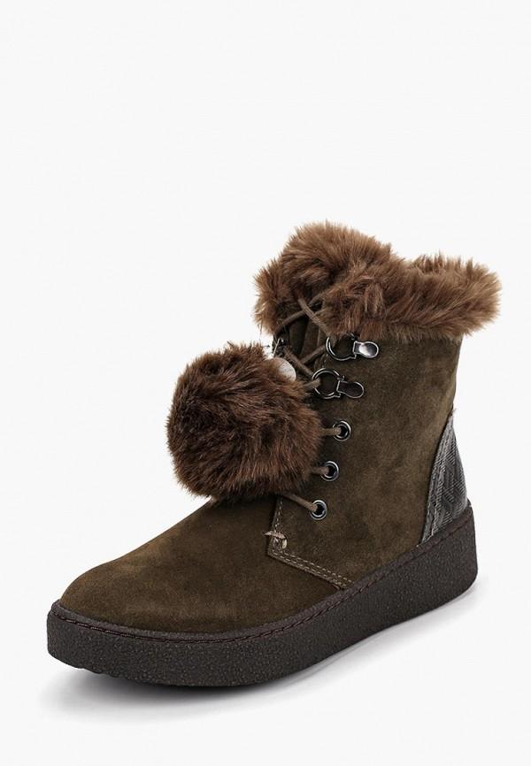 женские ботинки marco tozzi, хаки