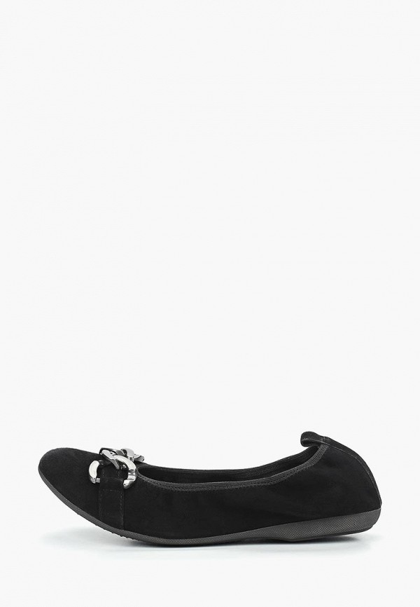 женские балетки marco tozzi, черные