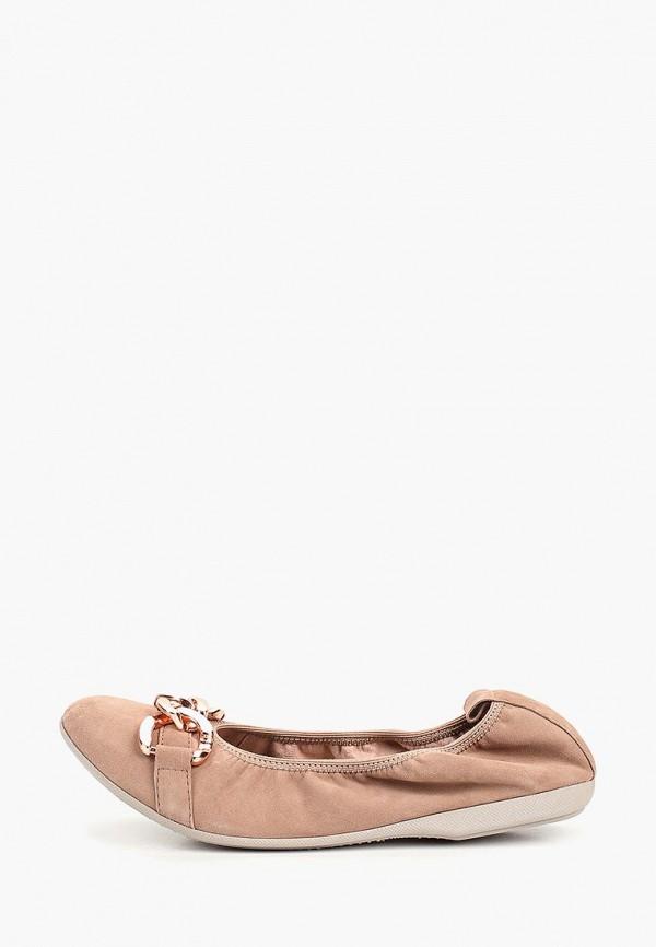 женские балетки marco tozzi, бежевые