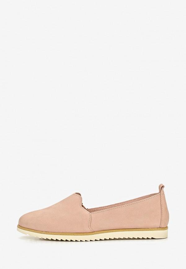 женские слипоны marco tozzi, розовые