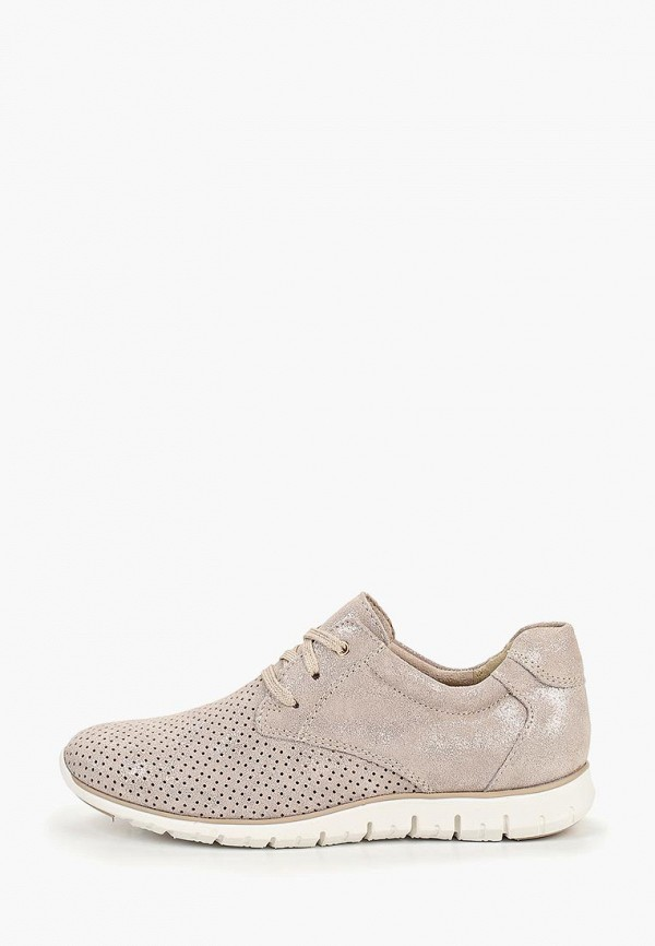 женские кроссовки marco tozzi, бежевые