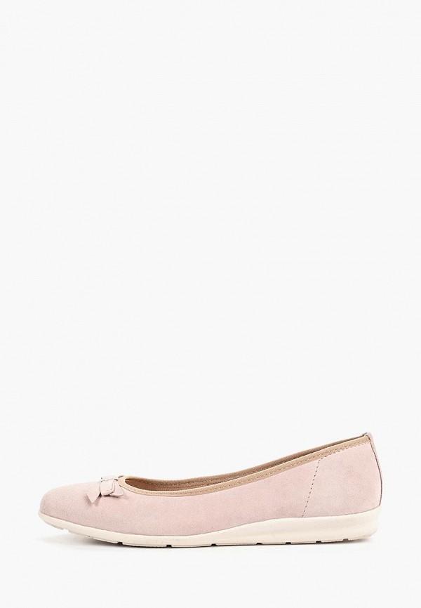 женские балетки marco tozzi, розовые