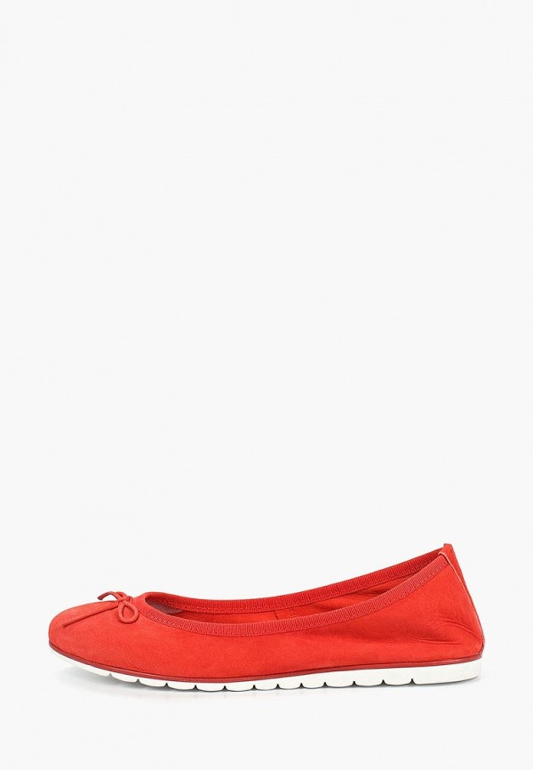 женские балетки marco tozzi, красные
