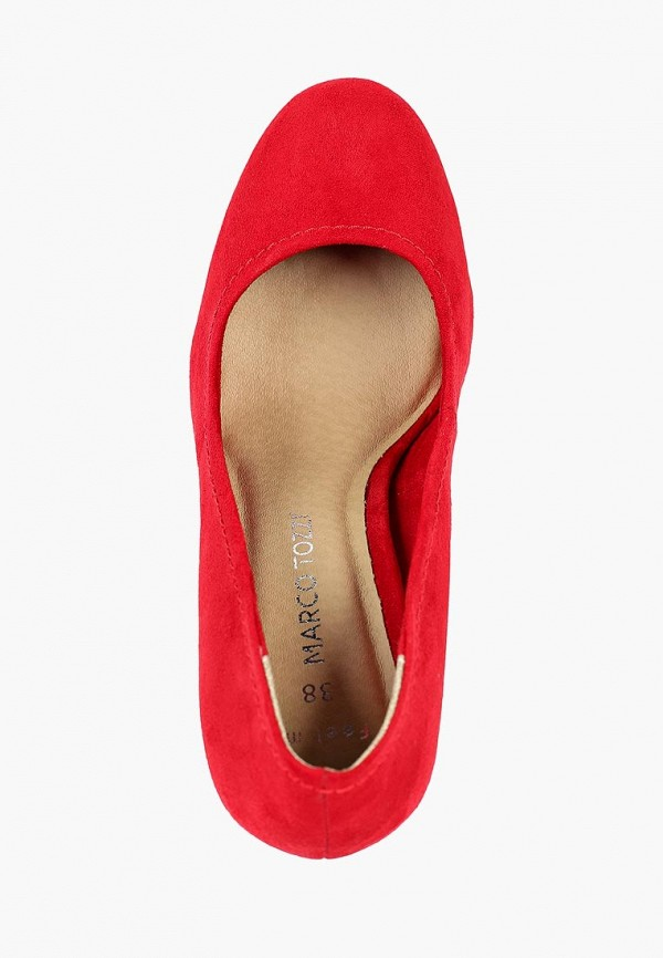 Фото 4 - женские туфли Marco Tozzi красного цвета