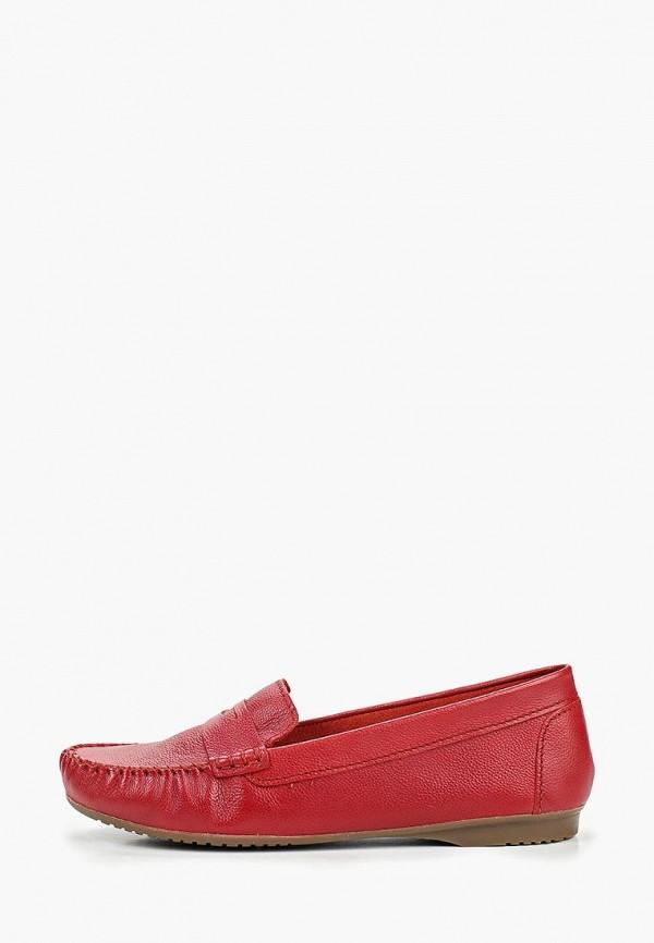 женские мокасины marco tozzi, красные
