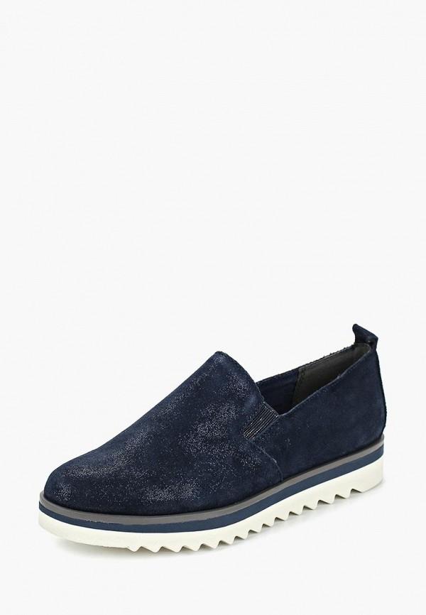 Фото 2 - женские ботинки и полуботинки Marco Tozzi синего цвета