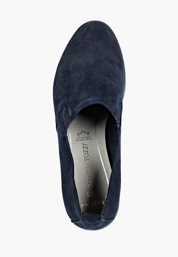 Фото 4 - женские ботинки и полуботинки Marco Tozzi синего цвета