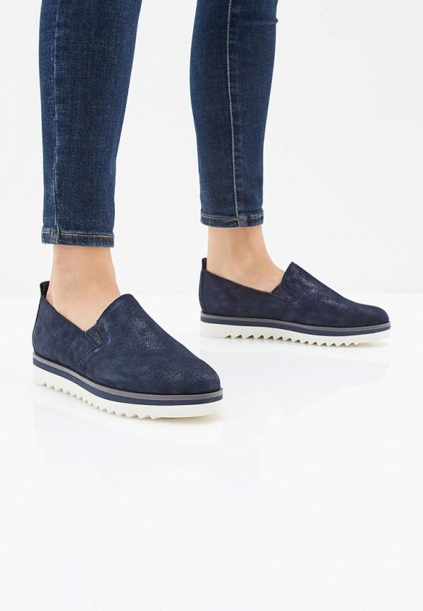 Фото 6 - женские ботинки и полуботинки Marco Tozzi синего цвета