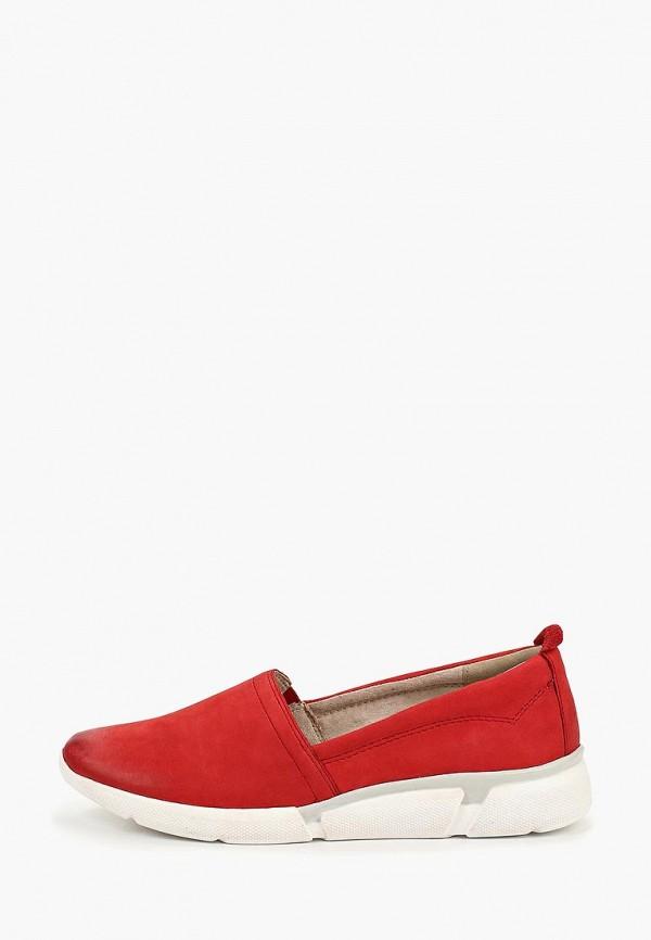 женские слипоны marco tozzi, красные