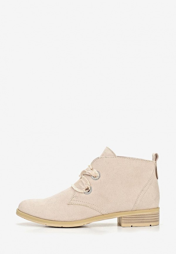 женские ботинки marco tozzi, бежевые