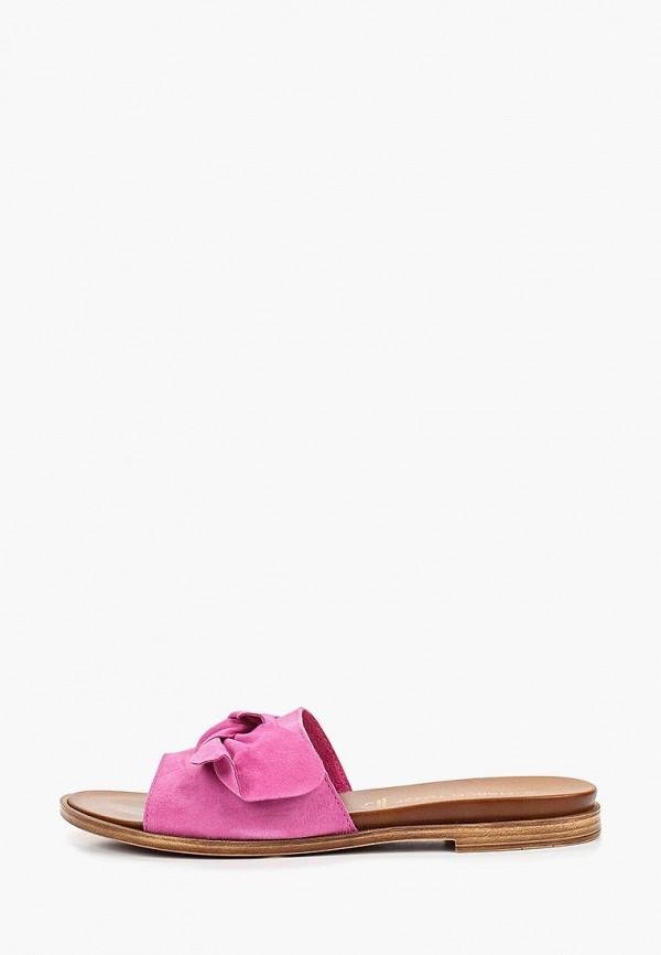 женское сабо marco tozzi, розовое