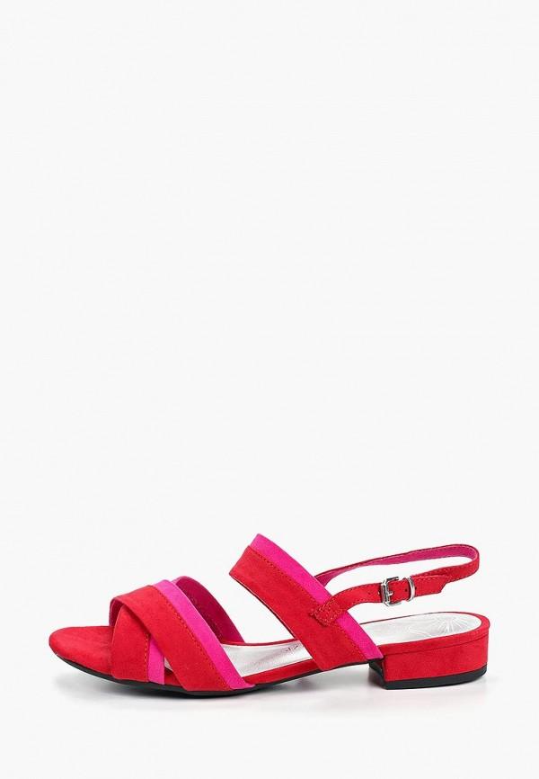 женские сандалии marco tozzi, красные