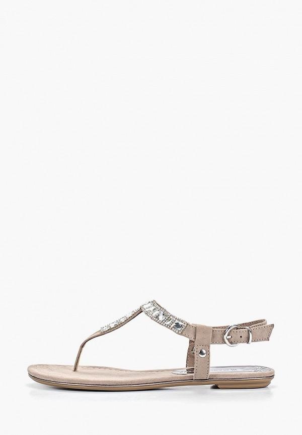 женские сандалии marco tozzi, бежевые