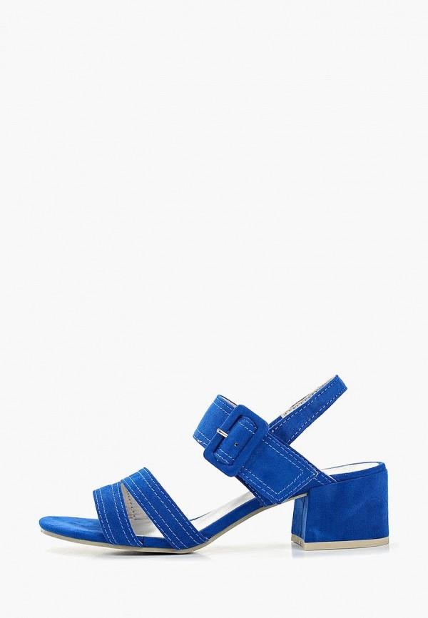 женские босоножки marco tozzi, синие
