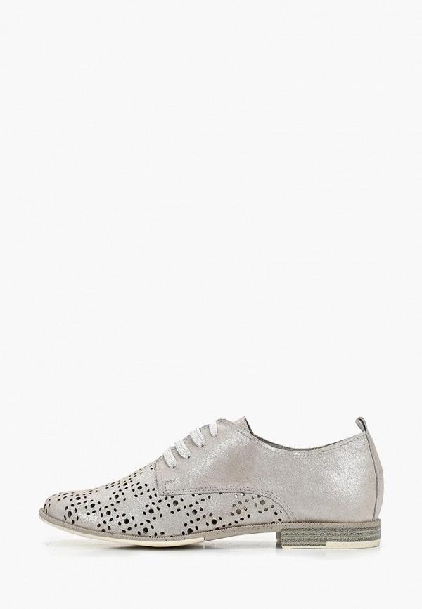 женские ботинки marco tozzi, серебряные