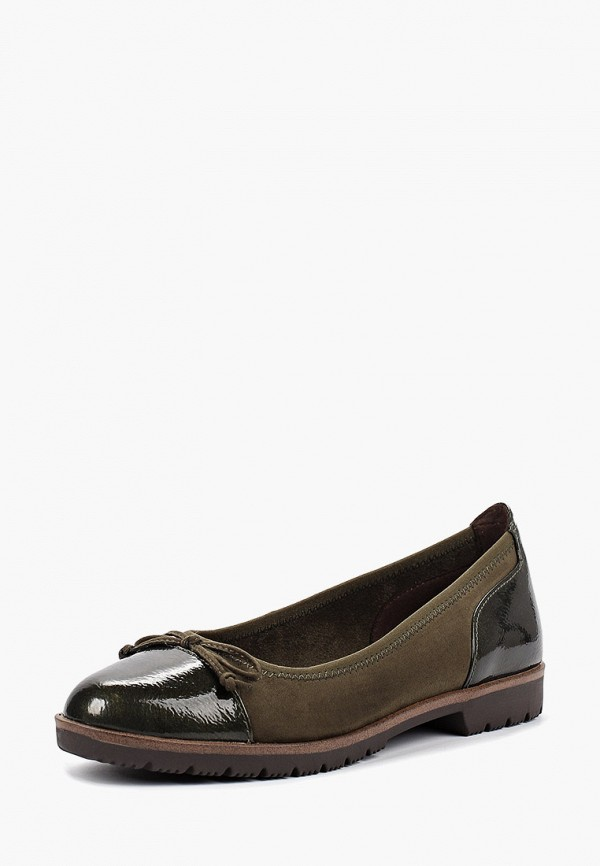 Фото 2 - женские туфли Marco Tozzi зеленого цвета