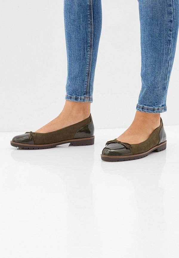 Фото 6 - женские туфли Marco Tozzi зеленого цвета