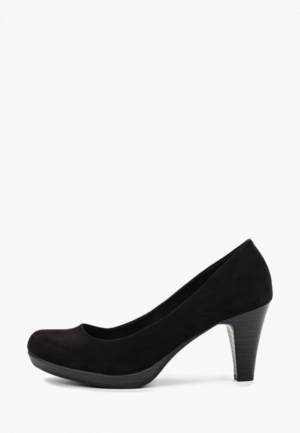 Фото - женские туфли Marco Tozzi черного цвета