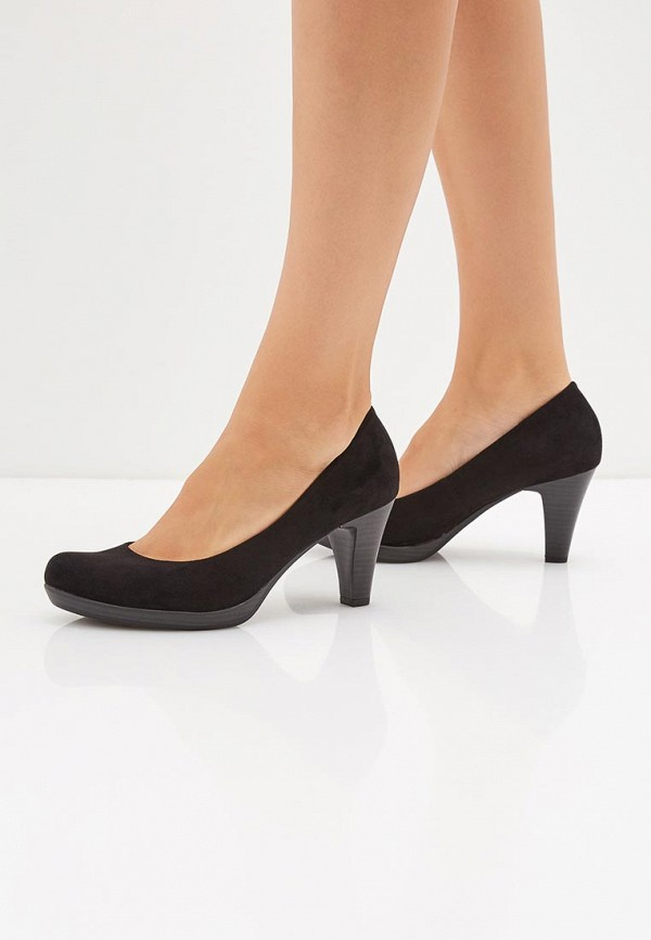 Фото 6 - женские туфли Marco Tozzi черного цвета
