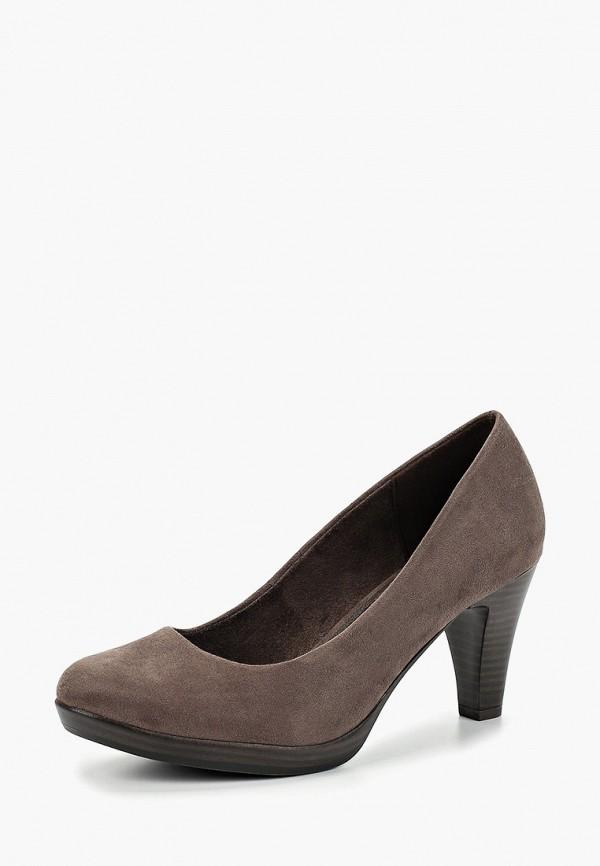 Фото 2 - женские туфли Marco Tozzi серого цвета
