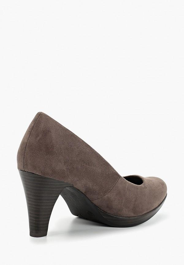 Фото 3 - женские туфли Marco Tozzi серого цвета