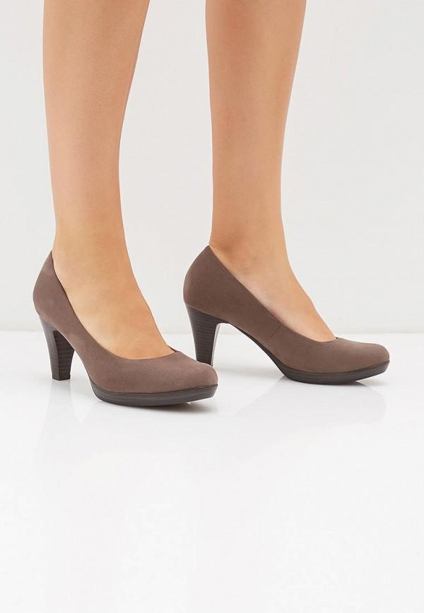 Фото 6 - женские туфли Marco Tozzi серого цвета