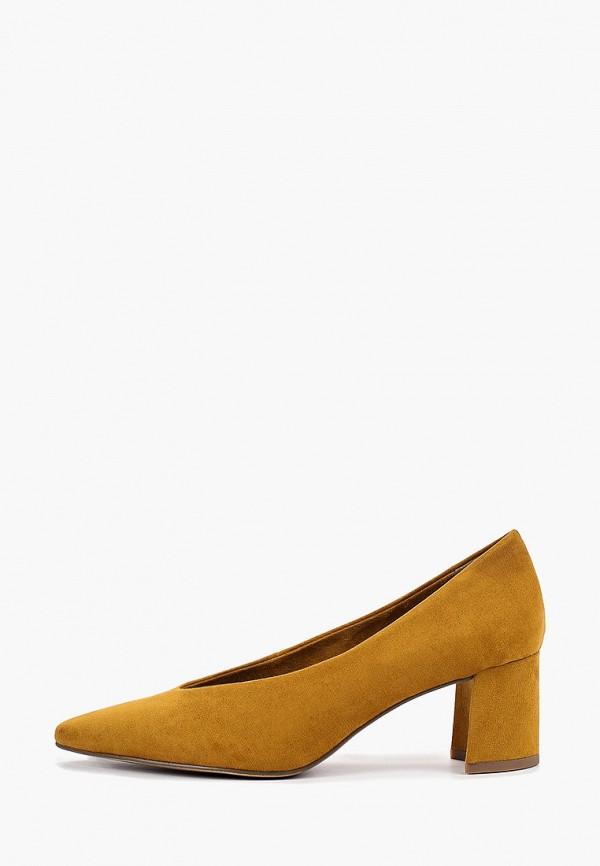Фото - женские туфли Marco Tozzi желтого цвета