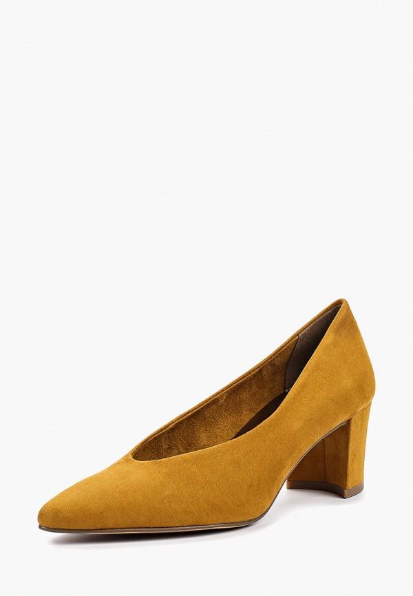 Фото 2 - женские туфли Marco Tozzi желтого цвета
