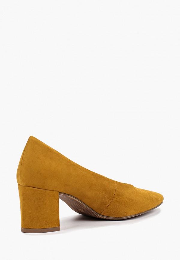 Фото 3 - женские туфли Marco Tozzi желтого цвета
