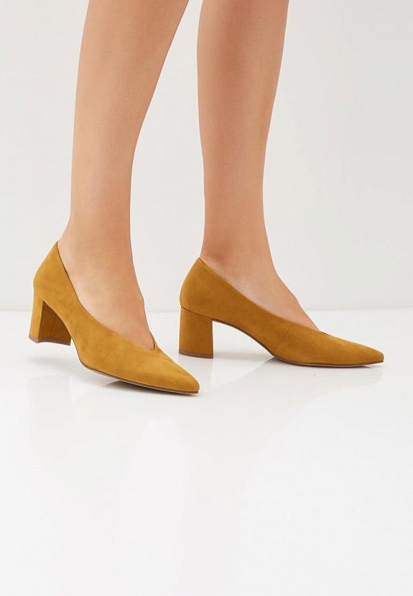 Фото 6 - женские туфли Marco Tozzi желтого цвета