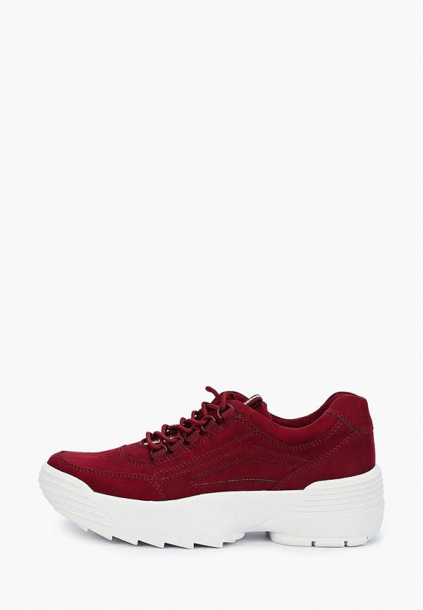 женские кроссовки marco tozzi, бордовые