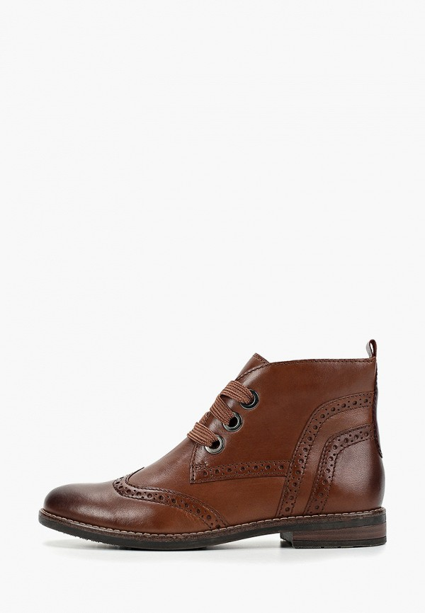 Фото - женские ботинки и полуботинки Marco Tozzi коричневого цвета