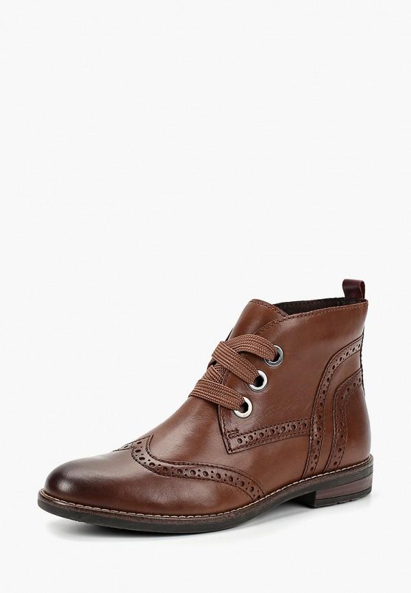 Фото 2 - женские ботинки и полуботинки Marco Tozzi коричневого цвета