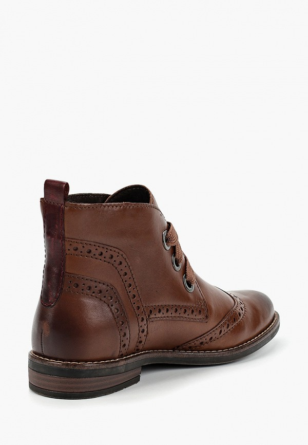 Фото 3 - женские ботинки и полуботинки Marco Tozzi коричневого цвета