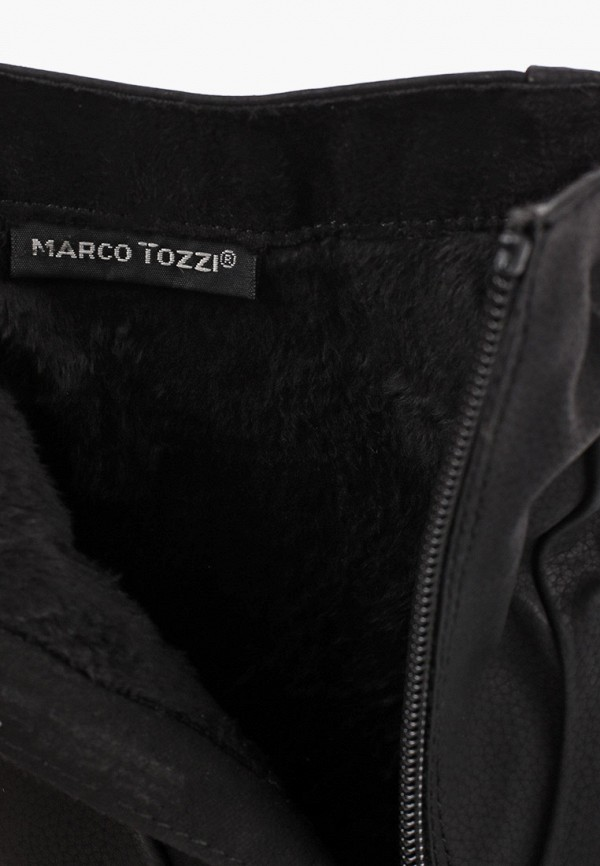 Фото 6 - женские полусапоги Marco Tozzi черного цвета