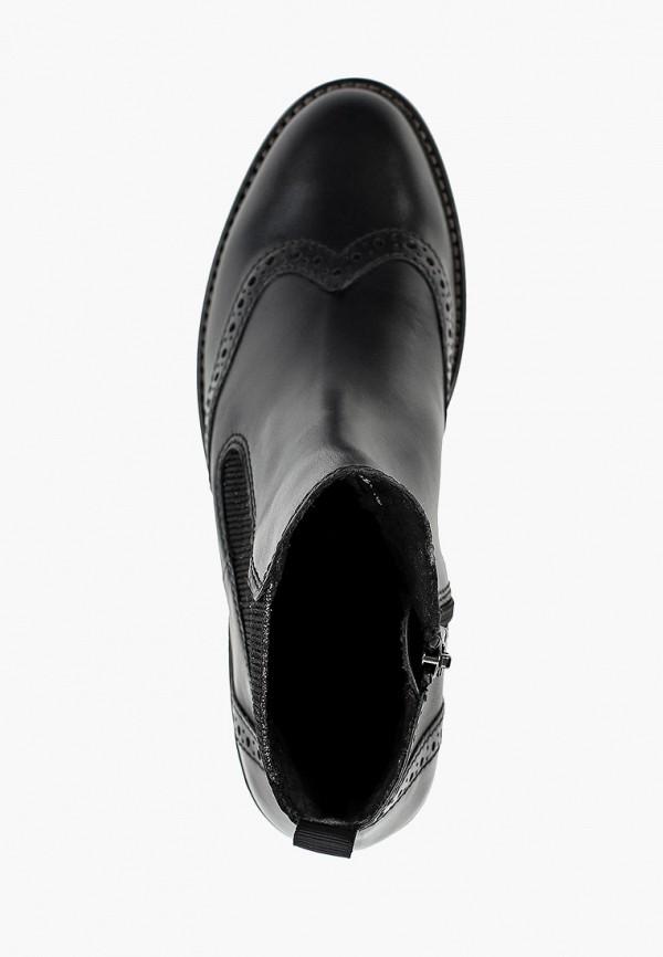 Фото 4 - женские ботинки и полуботинки Marco Tozzi черного цвета