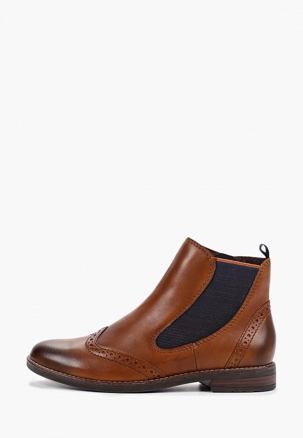 женские ботинки marco tozzi, коричневые