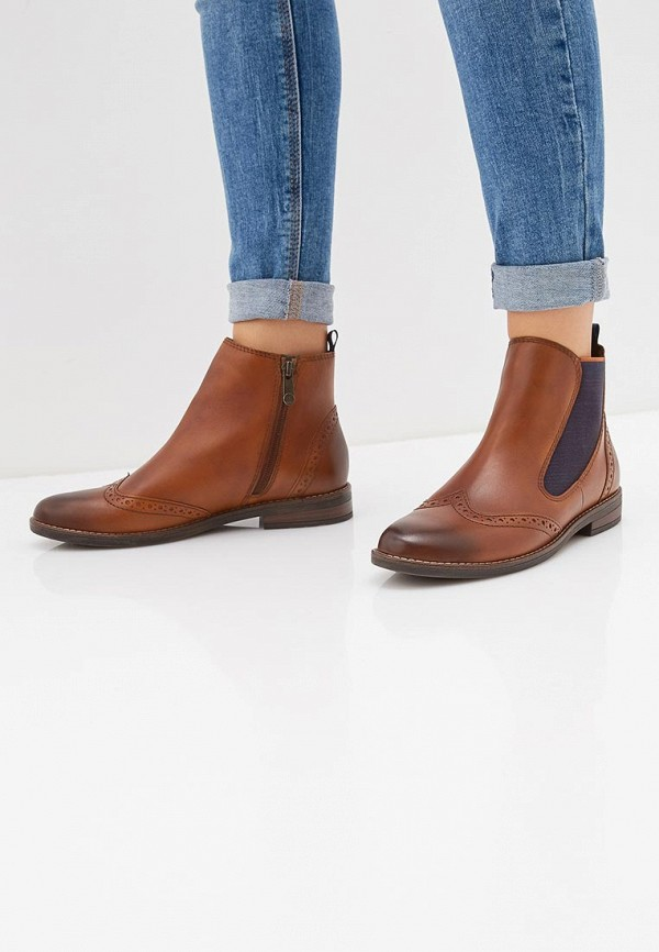 Фото 6 - женские ботинки и полуботинки Marco Tozzi коричневого цвета