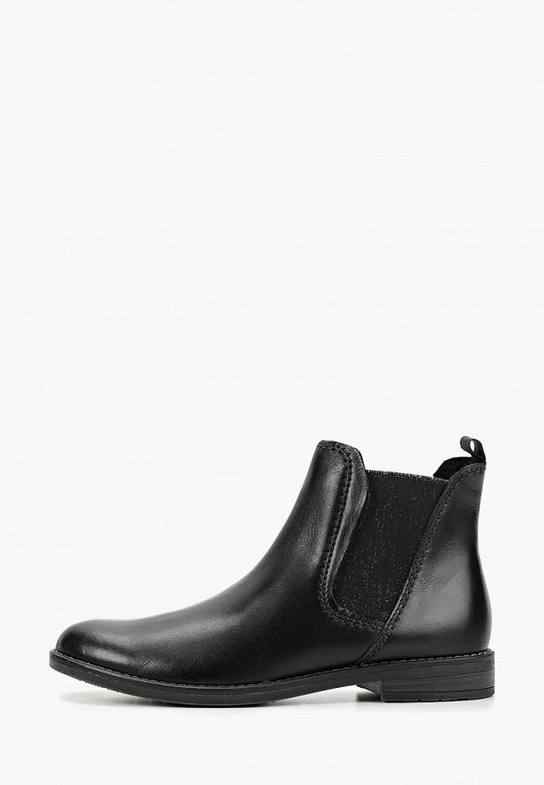 женские ботинки marco tozzi, черные