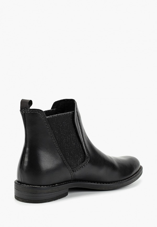 Фото 3 - женские ботинки и полуботинки Marco Tozzi черного цвета