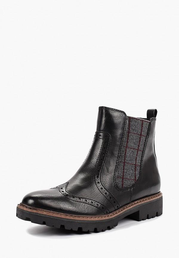 Фото 2 - женские ботинки и полуботинки Marco Tozzi черного цвета