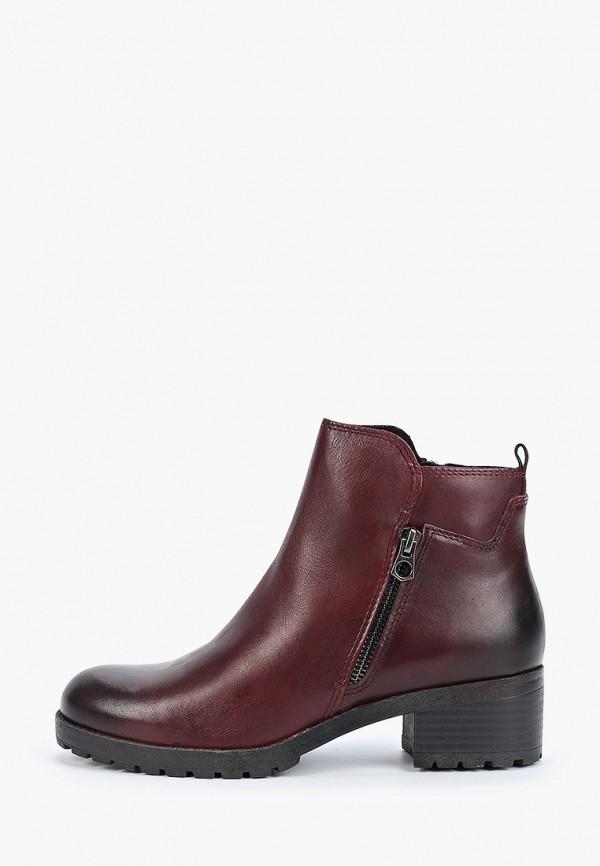 женские ботинки marco tozzi, бордовые