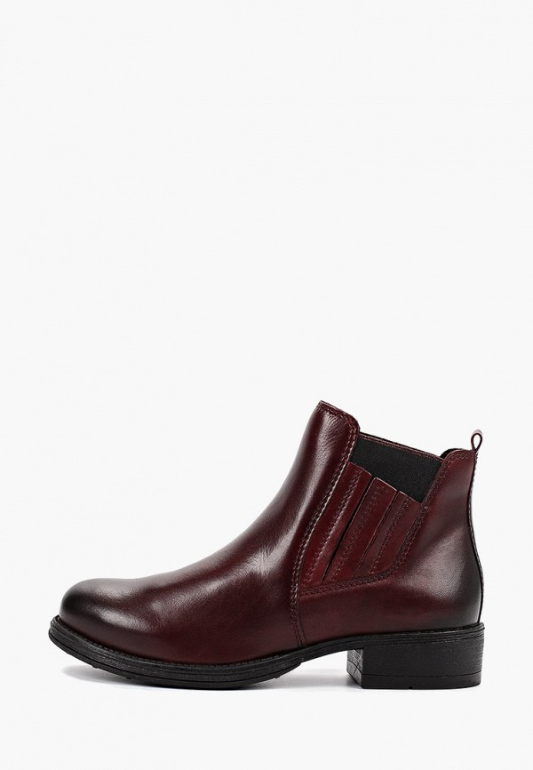 Фото - женские ботинки и полуботинки Marco Tozzi бордового цвета