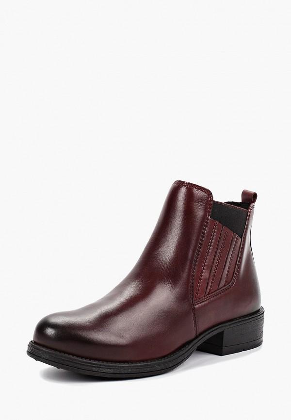Фото 2 - женские ботинки и полуботинки Marco Tozzi бордового цвета