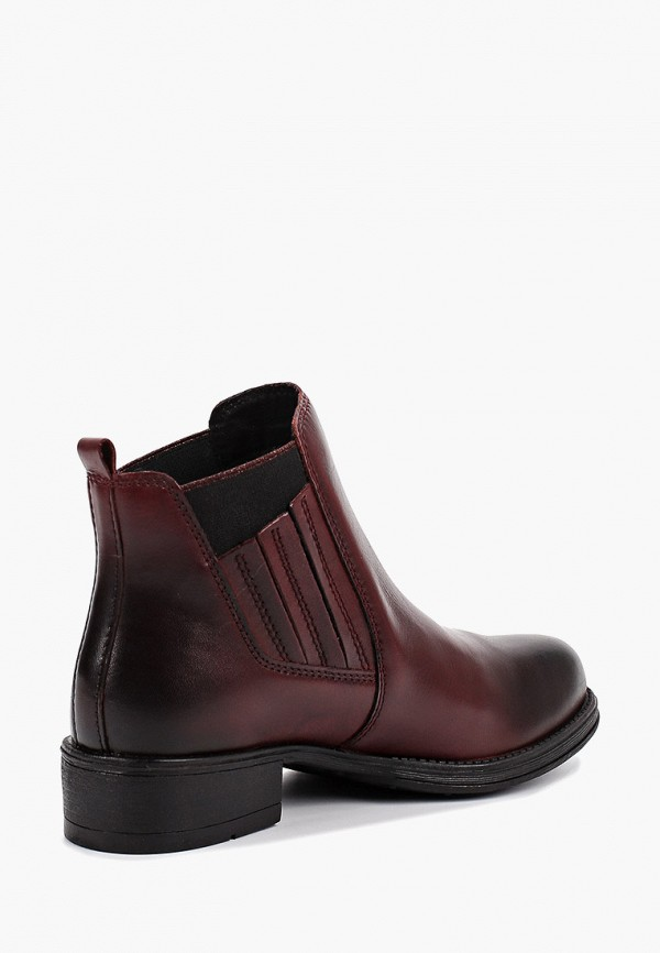 Фото 3 - женские ботинки и полуботинки Marco Tozzi бордового цвета