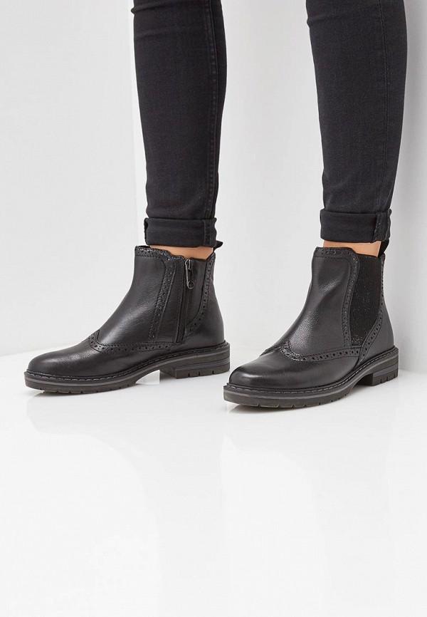 Фото 6 - женские ботинки и полуботинки Marco Tozzi черного цвета