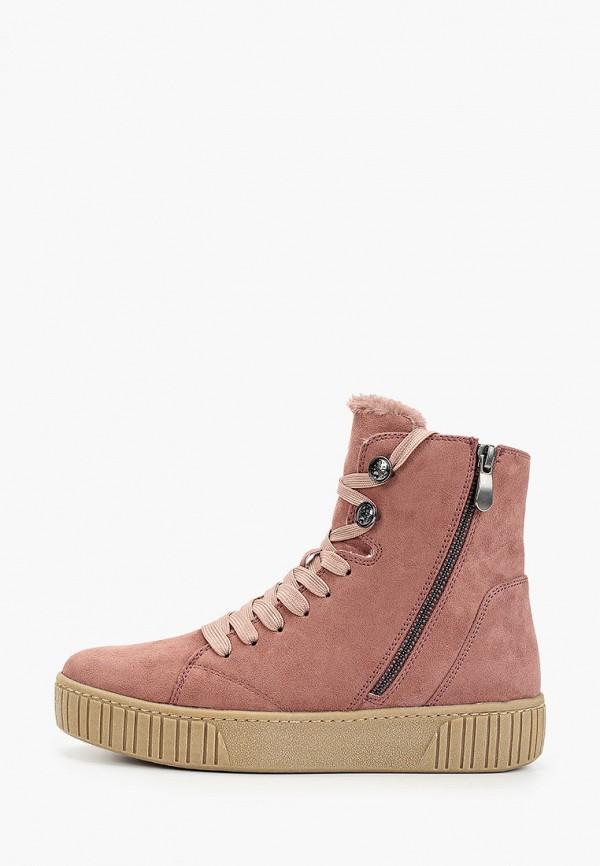 женские ботинки marco tozzi, розовые
