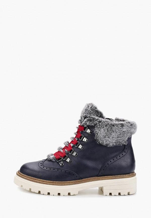женские ботинки marco tozzi, синие